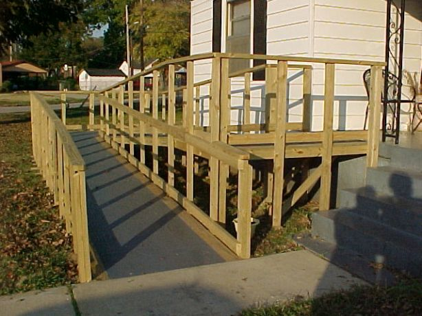 Build plans for wooden handicap ramp diy pdf workbench for Building a wheelchair accessible home