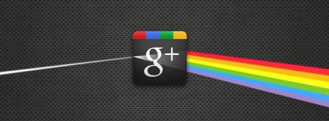 Google + logo spectrum