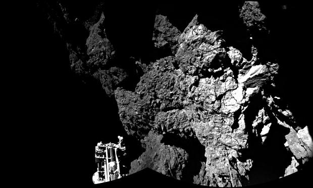 Philae's CIVA instrument captured this image of its landing site